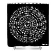 Black And White Mandala No. 3 Shower Curtain