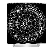 Black And White Mandala No. 4 Shower Curtain