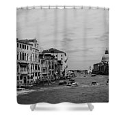 Black And White Venice 3 Shower Curtain