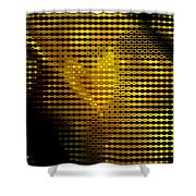 Black And Yellow Abstract I Shower Curtain