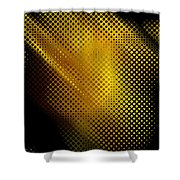 Black And Yellow Abstract II Shower Curtain