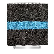 Black Blue Lawn Shower Curtain