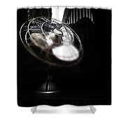 Black Breeze Shower Curtain