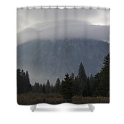 Black Butte With Lenticular Cap Shower Curtain