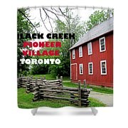 Black Creek Poster Shower Curtain