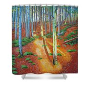Black Forest Sunset Shower Curtain