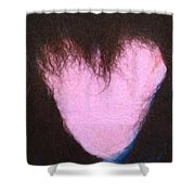 bLAck heART Shower Curtain