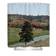 Black Hills Landscape Shower Curtain