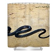 Black Mamba Shower Curtain by Elizabeth Kingsley