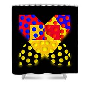 Black Mark Shower Curtain