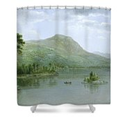 Black Mountain From The Harbor Islands - Lake George Shower Curtain