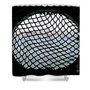 Black Net Shower Curtain
