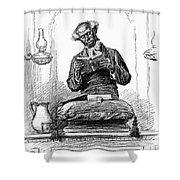 Black Preacher, 1890 Shower Curtain