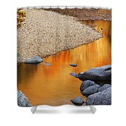 Black River Reflections At Johnsons Shut Ins State Park I Shower Curtain
