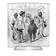 Black School Children Shower Curtain
