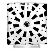 Black Spirale Shower Curtain