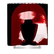 Black Urn Shower Curtain