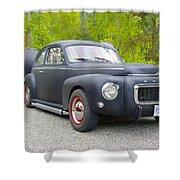 Black Volvo Shower Curtain