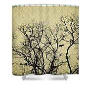 Blackbirds Roost Shower Curtain