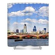 Blackfriars Bridge With London Skyline Shower Curtain
