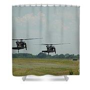 Blackhawks Landing Shower Curtain