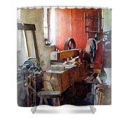 Blacksmith Shop Near Windows Shower Curtain