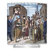 Blackwells Island, 1868 Shower Curtain