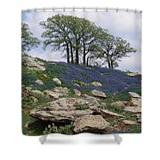 Blanketed In Blue Shower Curtain