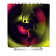 Blasted Rainbow  Shower Curtain