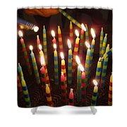 Blazing Amazing Birthday Candles Shower Curtain
