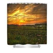 Blazing Countryside Shower Curtain