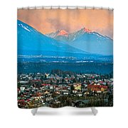 Bled City And Breg. Slovenia Shower Curtain