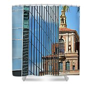 Blending Architecture  Shower Curtain