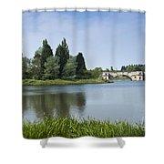 Blenheim Palace's Lake Shower Curtain
