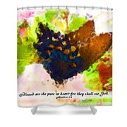 Blessed Are The Pure In Heart Shower Curtain