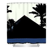 Blk And Wt Pyramid3 Shower Curtain