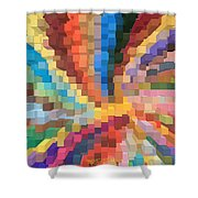 Blocks Of Color From A Pen And Ink Drawing Shower Curtain