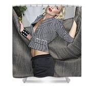 Blonde Movement Shower Curtain