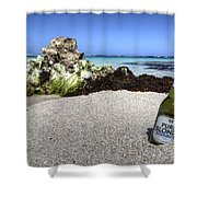 Blonde On The Beach  Shower Curtain