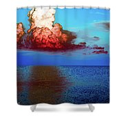 Blood Red Clouds Shower Curtain