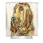 Bloodhound-watercolor Shower Curtain