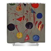 Bloody Colorforms Shower Curtain