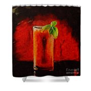 Bloody Mary Coctail Shower Curtain