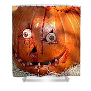 Bloody Pumpkin Shower Curtain