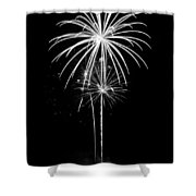 Blooming In Black And White Shower Curtain by Bill Pevlor