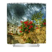 Blooming Village Shower Curtain