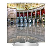 Blooming With Statues Shower Curtain