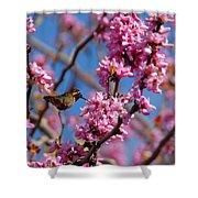 Blossoming Bird Shower Curtain