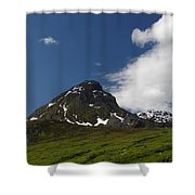 Blowing The Clouds Away Shower Curtain