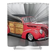 Blown Woody Shower Curtain